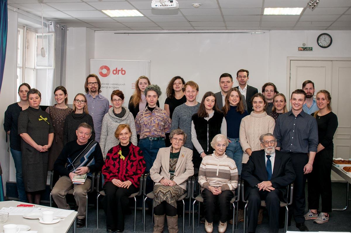 Teilnehmer und Organisatoren der Veranstaltungen zum 75. Jahrestag der Aufhebung der Blockade. Februar2019