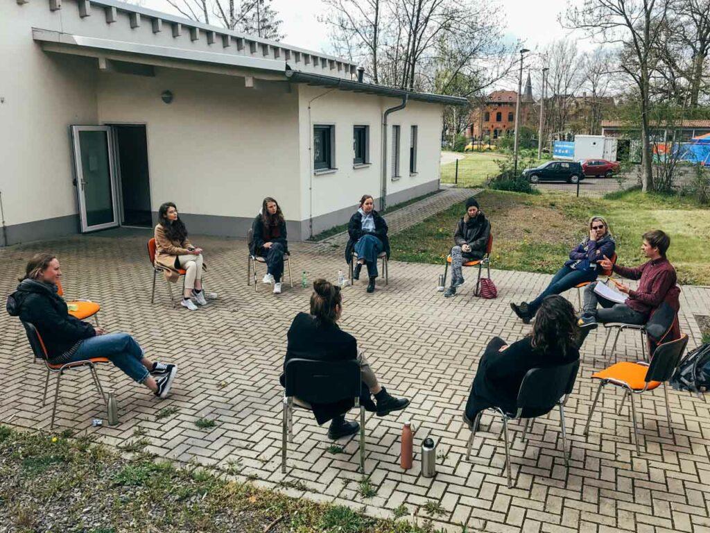Das Treffen der deutschen Freiwilligen in Nordhausen.